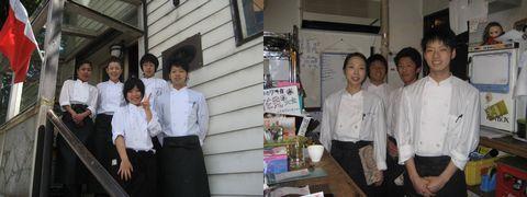 レストランビーナス&マーズの入り口とパントリーにて